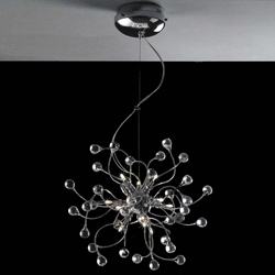 "Picture of 18"" Sfera Modern Crystal Round Chandelier Polished Chrome 12 Lights"