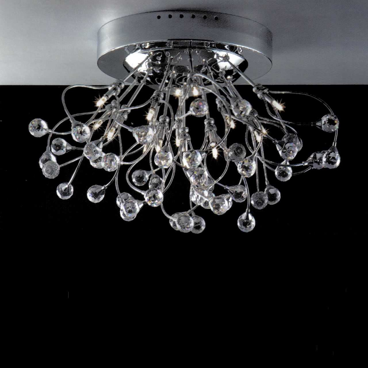 Brizzo lighting stores 24 sfera modern crystal flush mount round picture of 24 sfera modern crystal flush mount round chandelier polished chrome brushed nickel arubaitofo Gallery