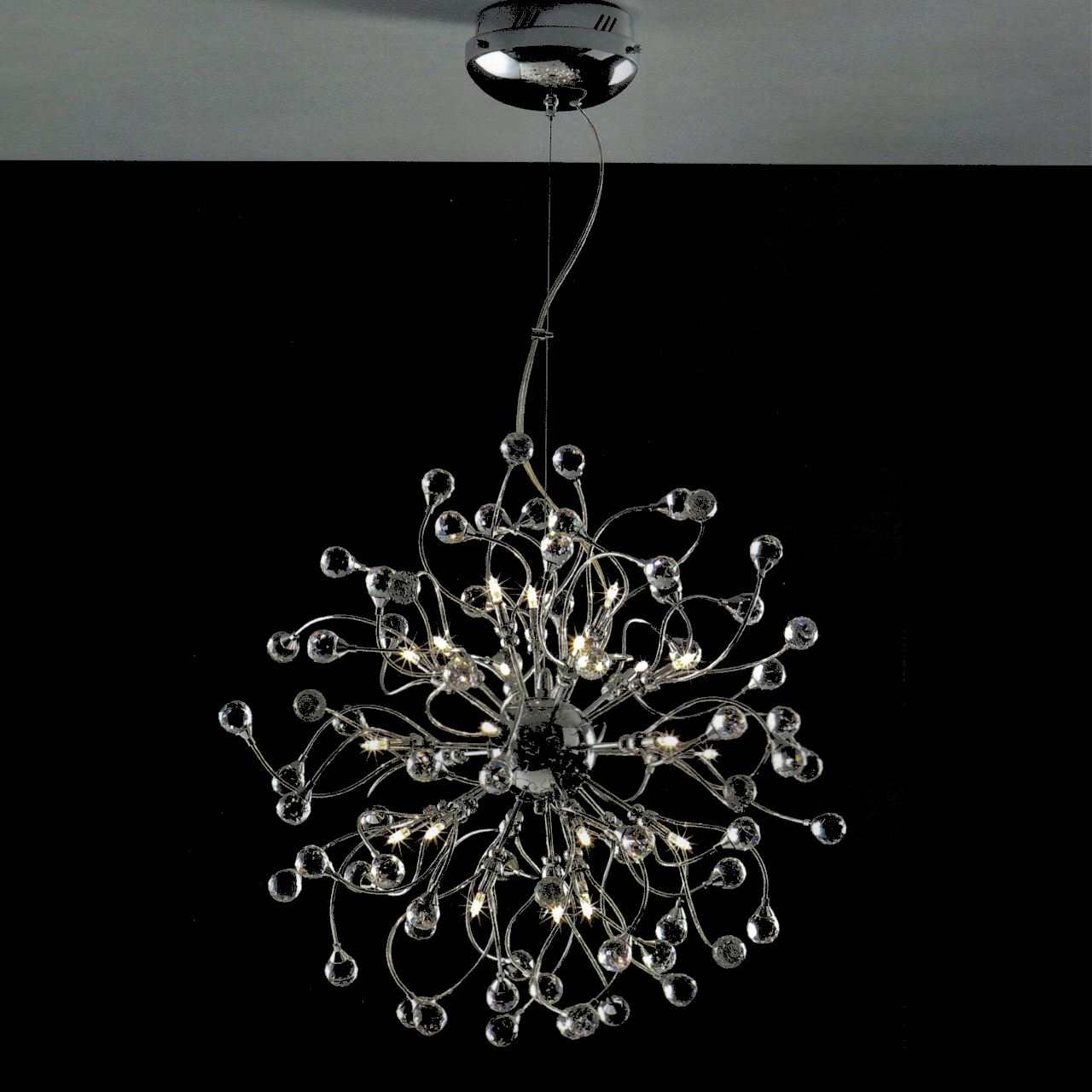 Brizzo Lighting Stores 24 Sfera Modern Crystal Round