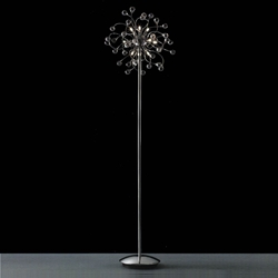 "Picture of 64"" Sfera Modern Crystal Floor Lamp Polished Chrome 12 Lights"