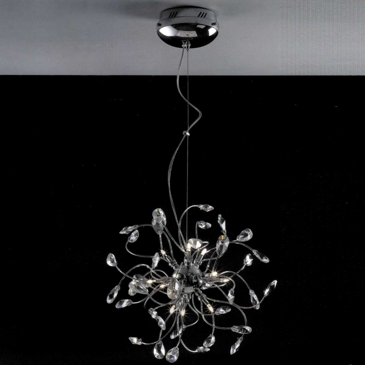 Brizzo lighting stores 18 tempesta modern crystal round chandelier picture of 18 tempesta modern crystal round chandelier polished chrome 12 lights arubaitofo Choice Image