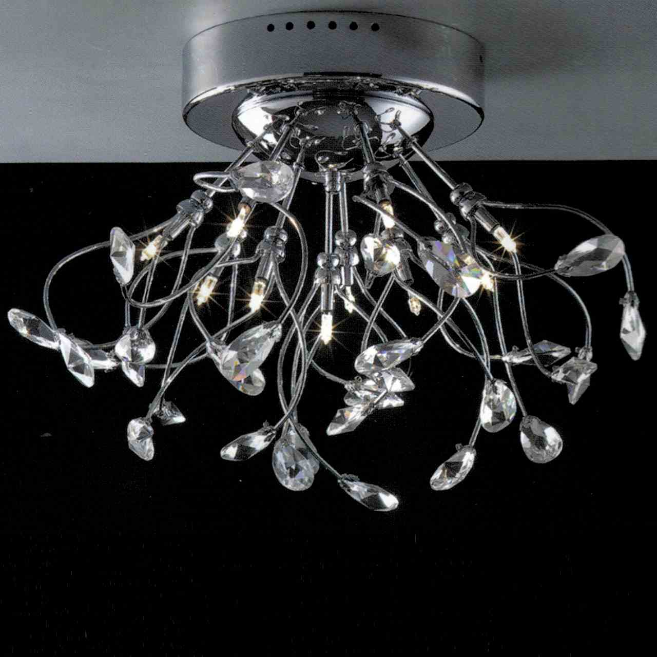 Brizzo lighting stores 22 tempesta modern crystal wall sconce 19 tempesta modern crystal flush mount round chandelier polished chrome brushed nickel 10 lights arubaitofo Gallery