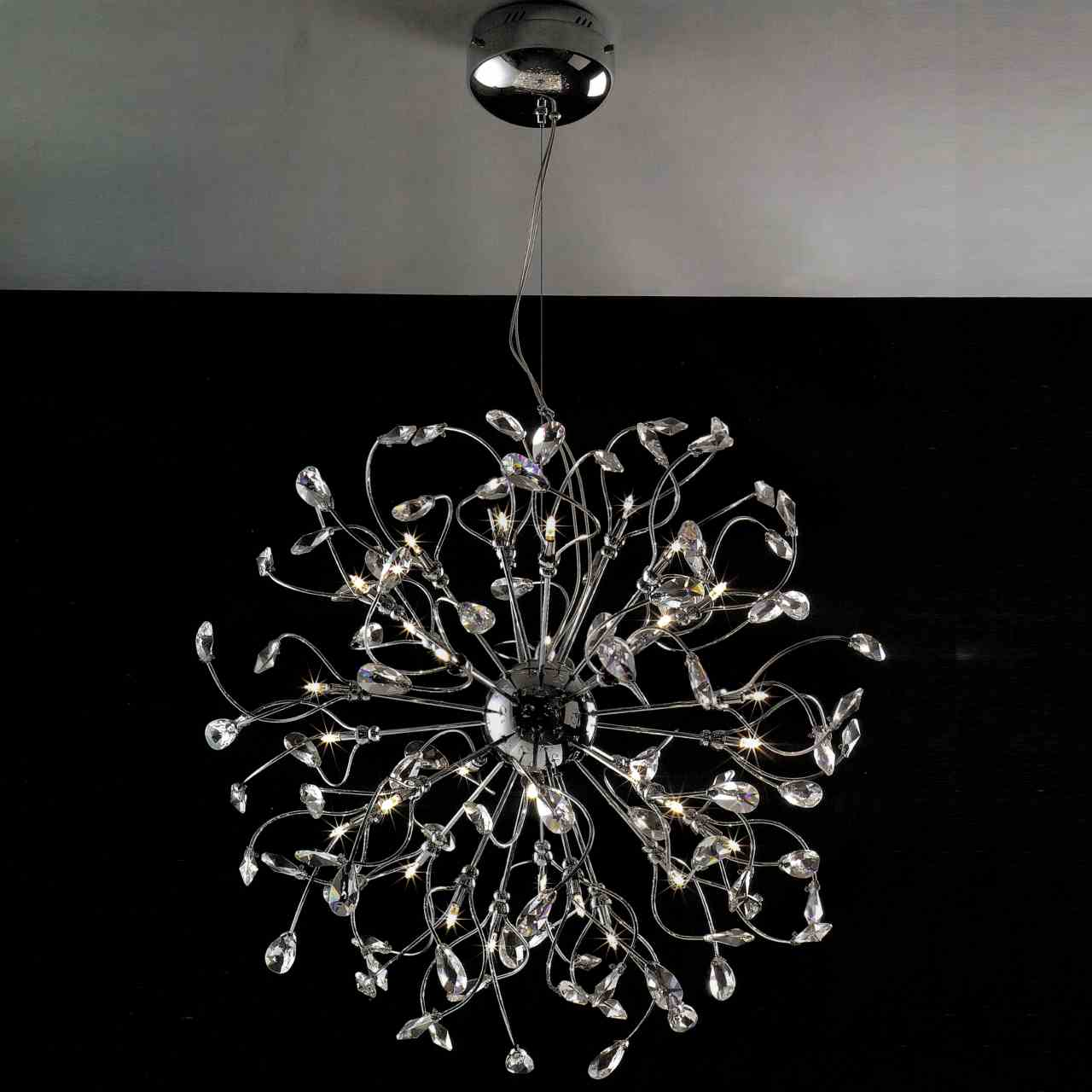 Brizzo Lighting Stores 30 Quot Tempesta Modern Crystal Round