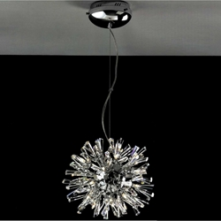 """Picture of 14"""" Radiante Modern Crystal Round Pendant Polished Chrome 24 Lights"""
