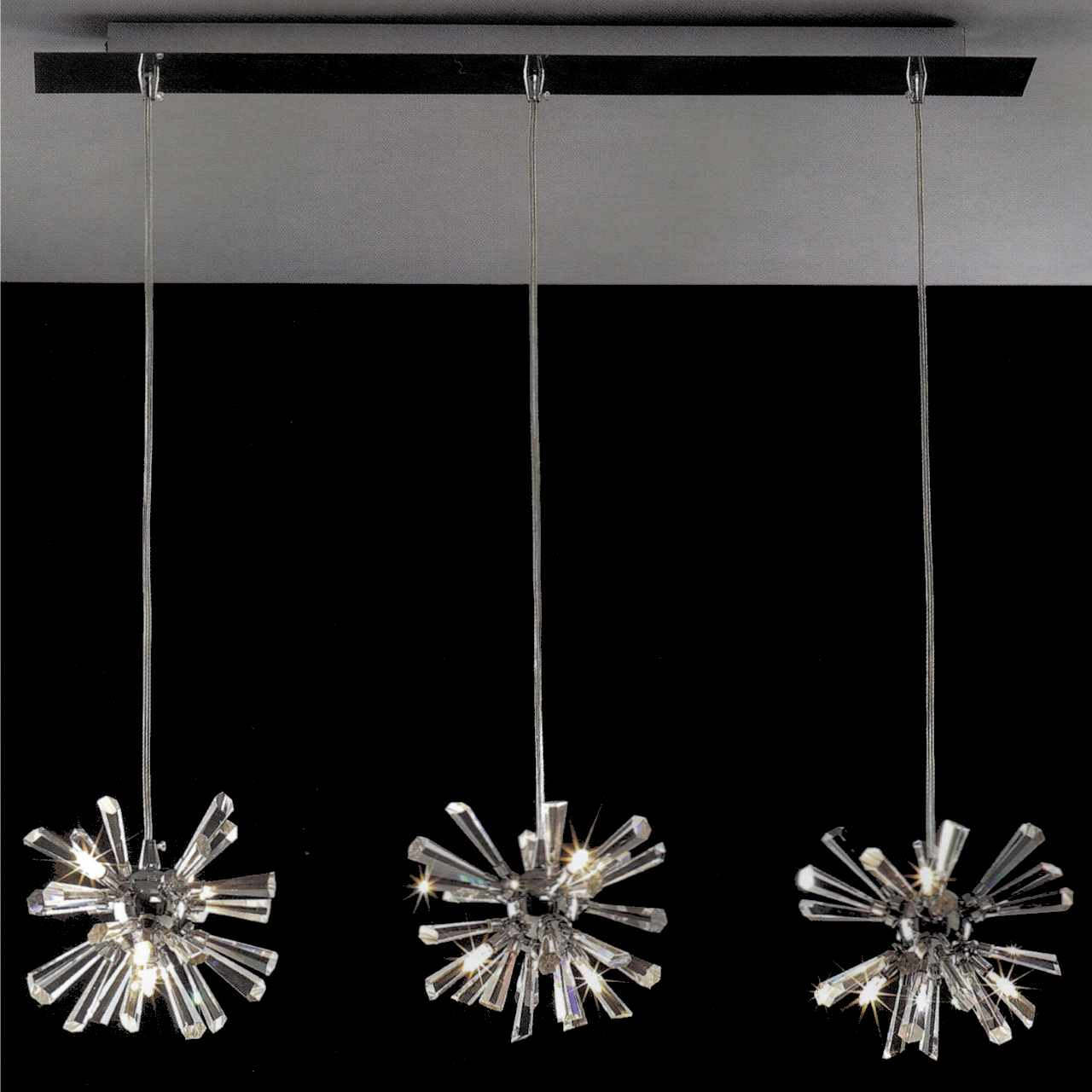 Brizzo lighting stores 28 radiante modern crystal triple pendants picture of 28 radiante modern crystal triple pendants polished chrome 12 lights mozeypictures Images