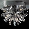 "Picture of 9"" Radiante Modern Crystal Flush Mount Round Chandelier Polished Chrome 9 Lights"
