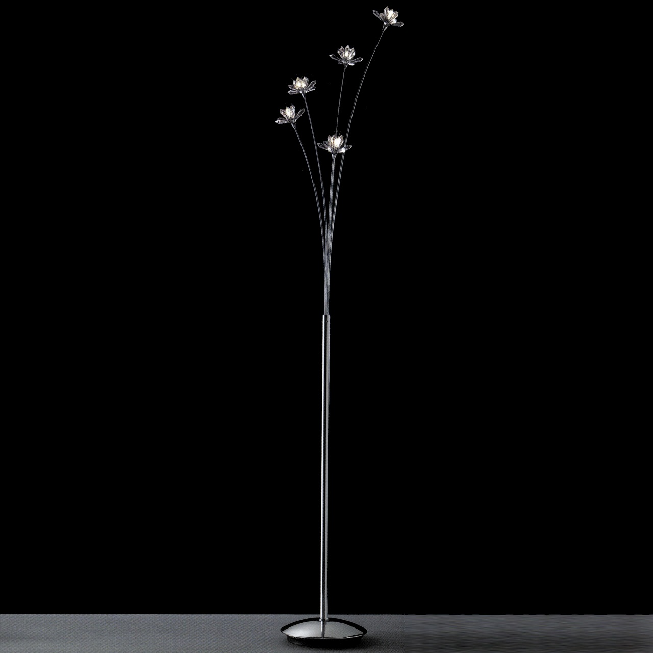 Brizzo lighting stores 65 petali modern crystal floor lamp picture of 65 petali modern crystal floor lamp polished chrome 5 lights aloadofball Choice Image