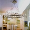 "Picture of 40"" Albero Modern Crystal Branch Oval Chandelier Polished Chrome 8 Lights"