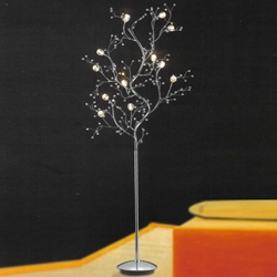 "Picture of 69"" Albero Modern Crystal Branch Floor Lamp Polished Chrome 12 Lights"