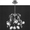 "Picture of 24"" Fiore Modern Crystal Round Chandelier Polished Chrome 10 Lights"