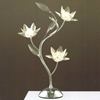 "Picture of 19"" Fiore Modern Crystal Table Lamp Polished Chrome 3 Lights"