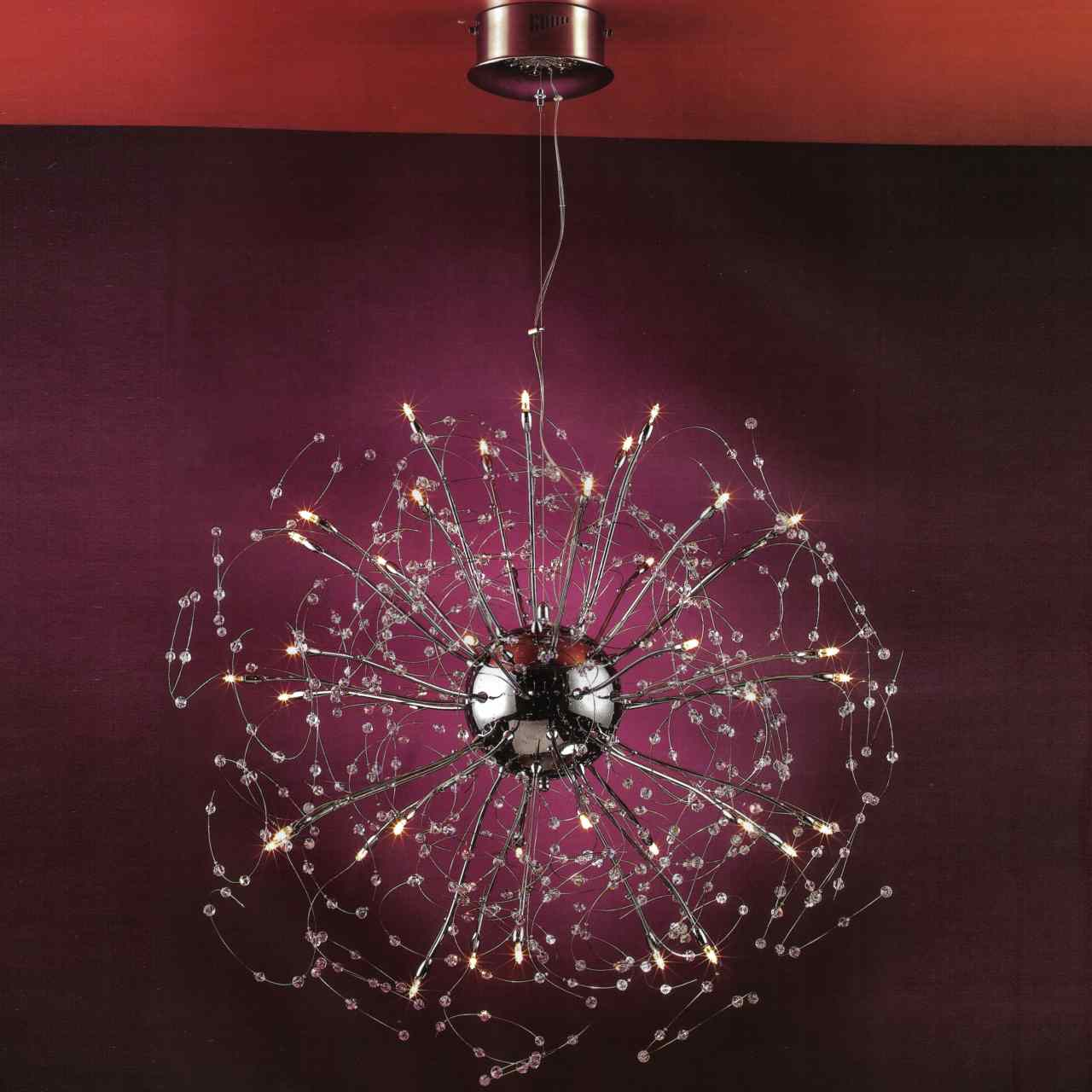 Brizzo lighting stores 28 galassia modern crystal round chandelier picture of 28 galassia modern crystal round chandelier polished chrome 30 lights arubaitofo Images