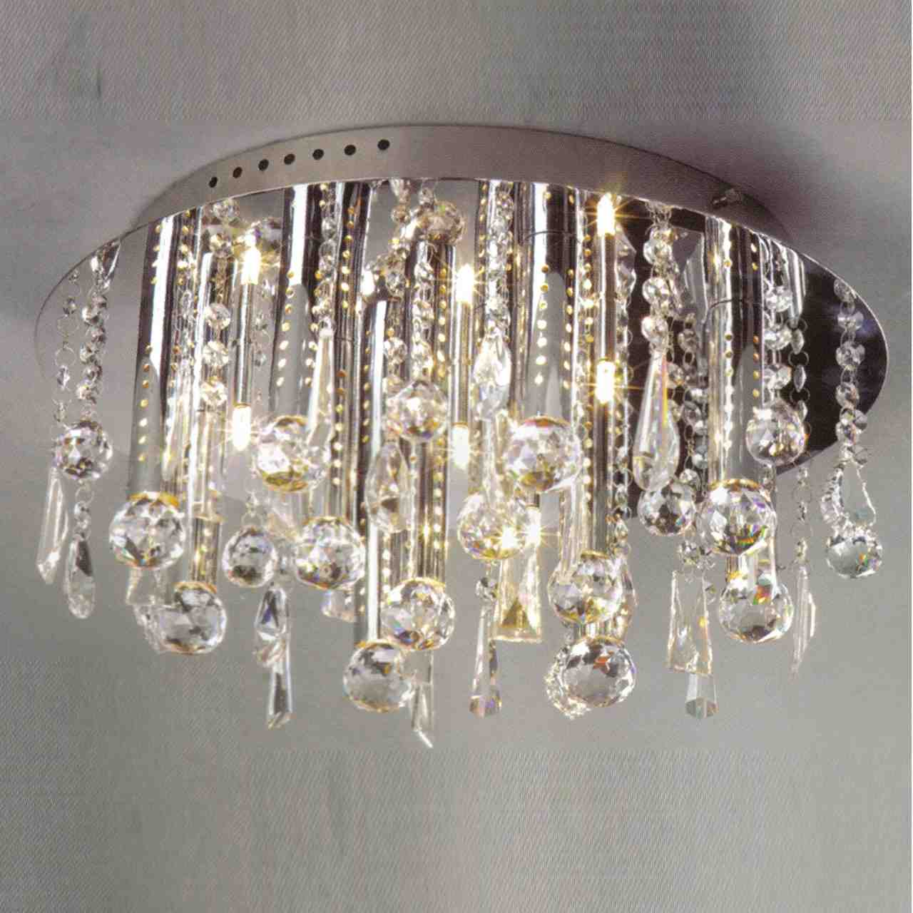 Brizzo lighting stores 14 miraggio modern crystal flush mount picture of 14 miraggio modern crystal flush mount round chandelier polished chrome 12 lights aloadofball Images