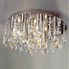 "Picture of 14"" Miraggio Modern Crystal Flush Mount Round Chandelier Polished Chrome 12 Lights"