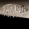 "Picture of 18"" Miraggio Modern Crystal Flush Mount Round Chandelier Polished Chrome 16 Lights"