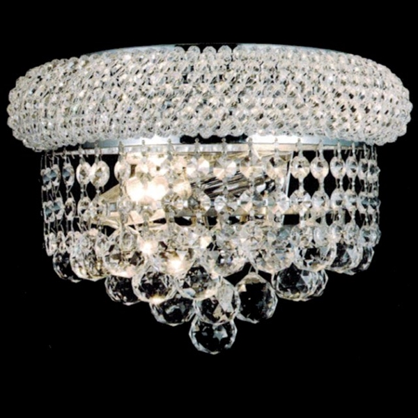 c323b01554 Brizzo Lighting Stores. Empire Crystal Wall Sconce Chrome / Gold 2 ...