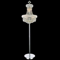 Picture of Empire Crystal Floor Lamp Chrome / Gold 8 Lights