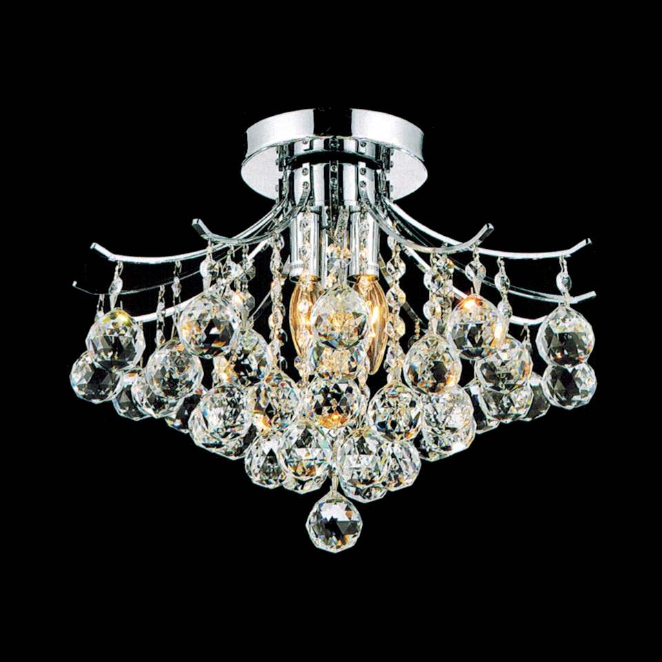 Brizzo Lighting Stores 12 Monarch Crystal Flush Mount Small