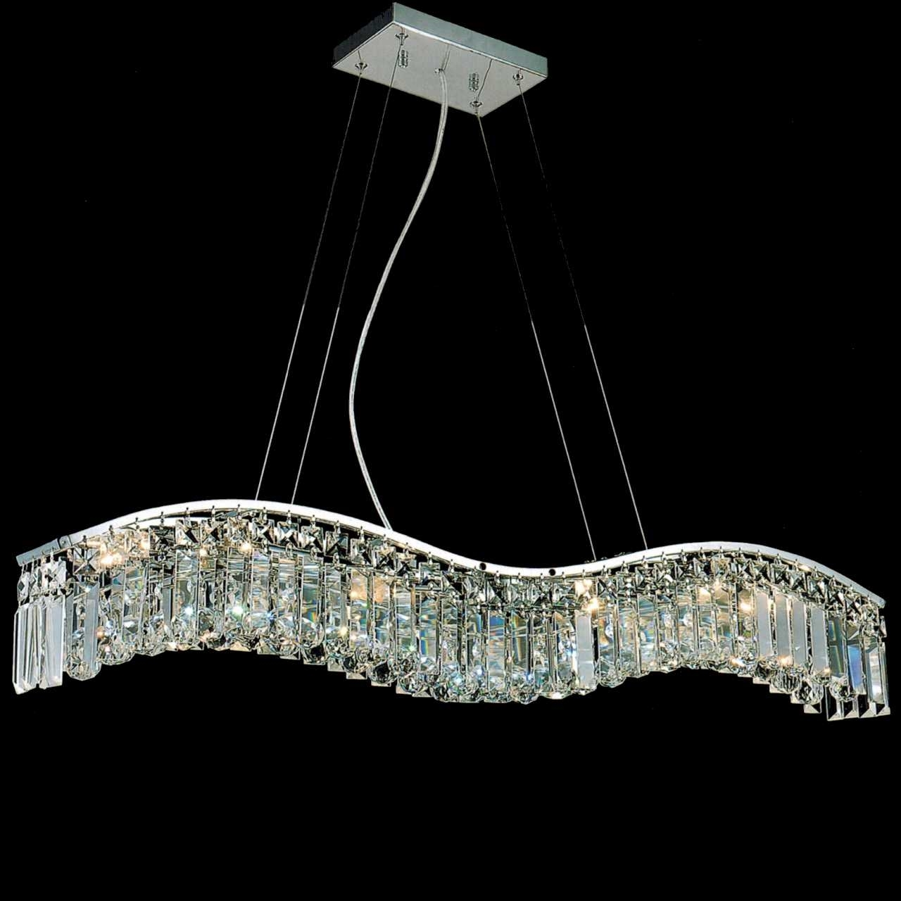 0000625_36-gesto-modern-rectangular-wave-chandelier-polished-chrome-clear-smoky-champagne-crystal-7-lights Bathroom Lighting Pendants