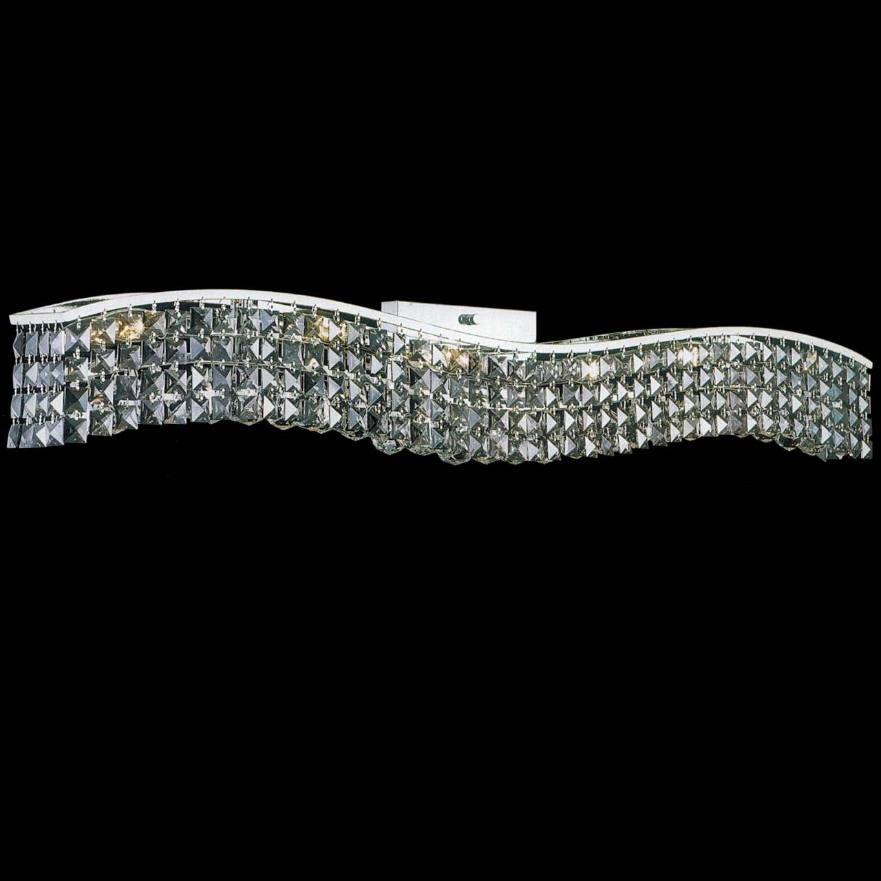 Brizzo Lighting Stores 44 Quot Gesto Modern Rectangular Wave