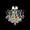 "Picture of 14"" Formosa Crystal Semi-Flush Mount Round Chandelier Chrome / Gold 3 Lights"