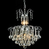 "Picture of 18"" Formosa Crystal Round Chandelier Chrome / Gold 9 Lights"