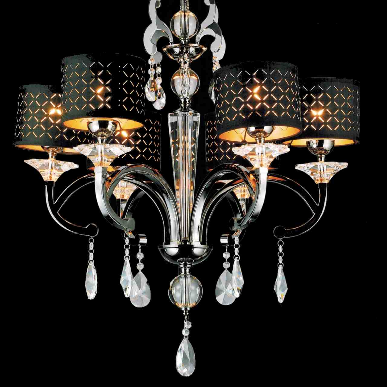 Brizzo lighting stores 29 bello nero contemporary crystal round picture of 29 bello nero contemporary crystal round chandelier black chrome with shades 6 lights arubaitofo Choice Image