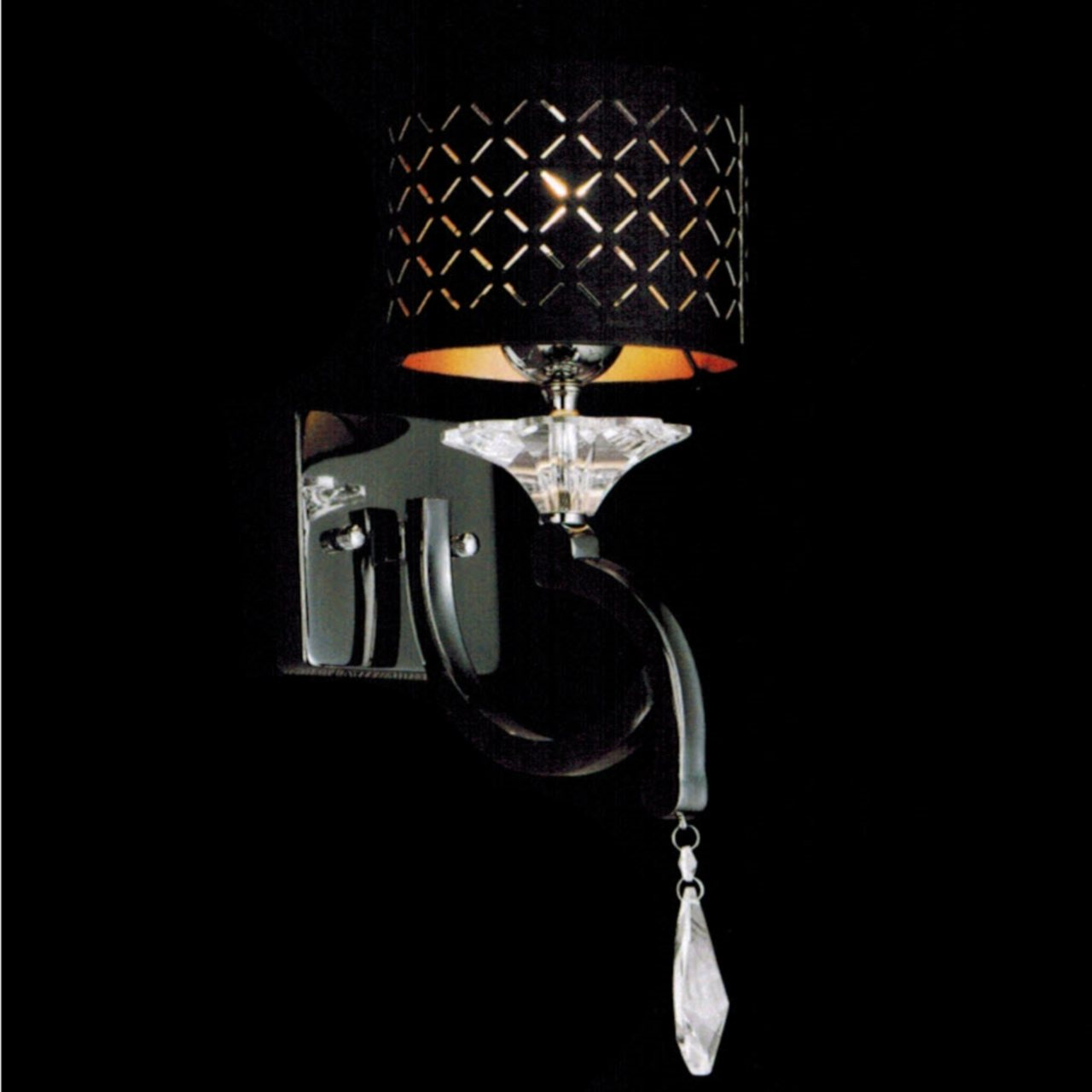 Brizzo lighting stores 8 bello nero contemporary crystal wall picture of 8 bello nero contemporary crystal wall sconce black chrome with shade 1 light aloadofball Gallery