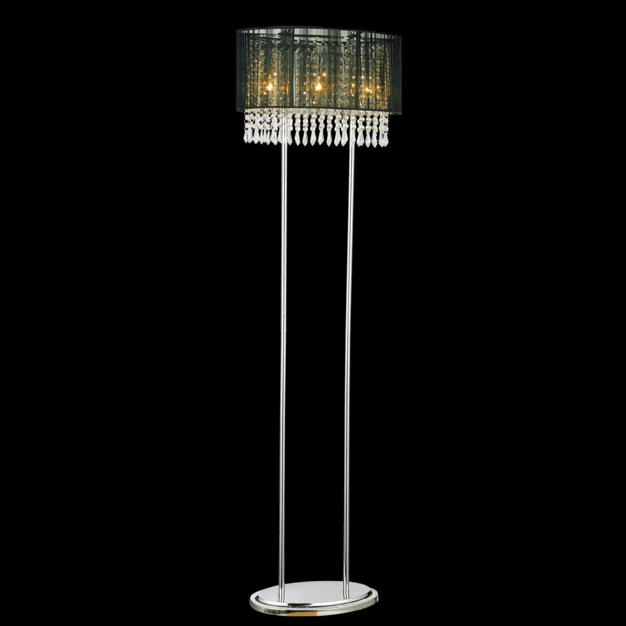 Brizzo lighting stores 59 ovale contemporary string drum shade picture of 59 ovale contemporary string drum shade crystal floor lamp polished chrome black aloadofball Choice Image