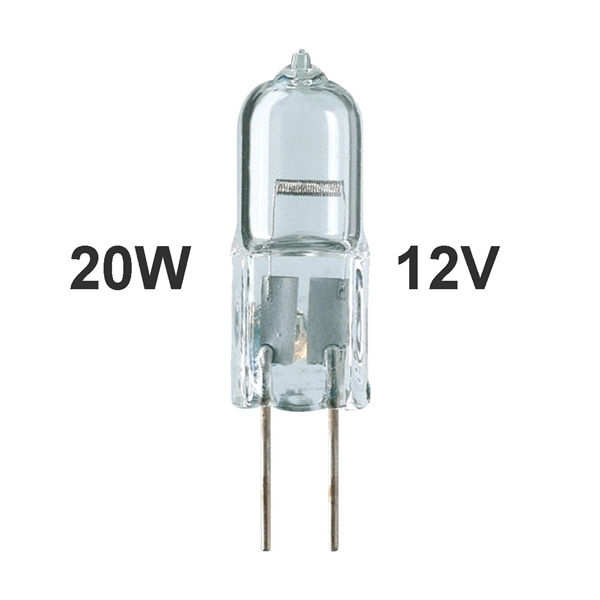 Picture of 20W Halogen G4 Bi-Pin Bulb 12V Low Voltage