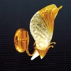 "Picture of 8"" Leaf Melted Glass Wall Sconce Chrome / Gold 1 Light"
