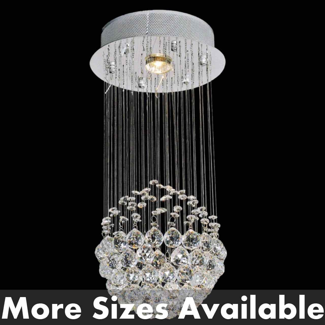 Picture of Sphere Modern Crystal Chandelier Small Mirror Stainless Steel Base 1 Light & Brizzo Lighting Stores. Sphere Modern Crystal Chandelier Small ... azcodes.com