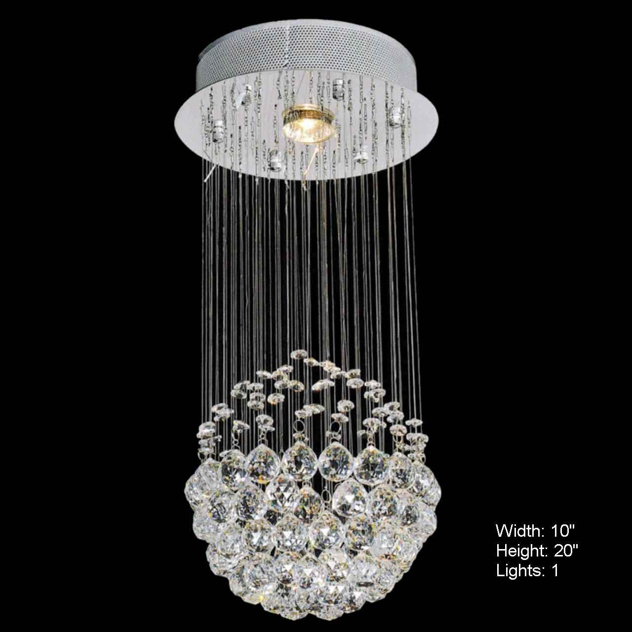 Brizzo lighting stores sphere modern crystal chandelier small picture of sphere modern crystal chandelier small mirror stainless steel base 1 light aloadofball Choice Image