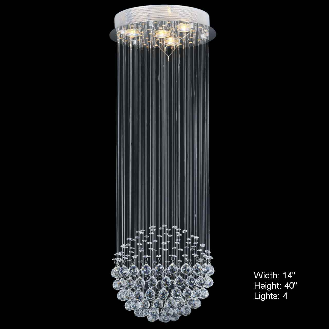 Brizzo Lighting Stores Sphere Modern Crystal Chandelier