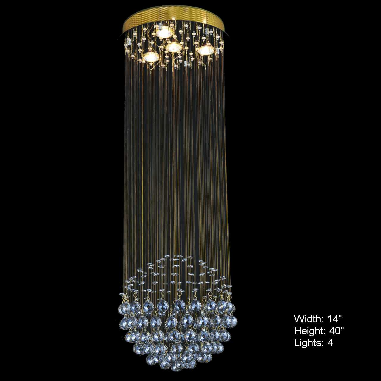 Brizzo Lighting Stores. Sphere Modern Crystal Chandelier Small ...