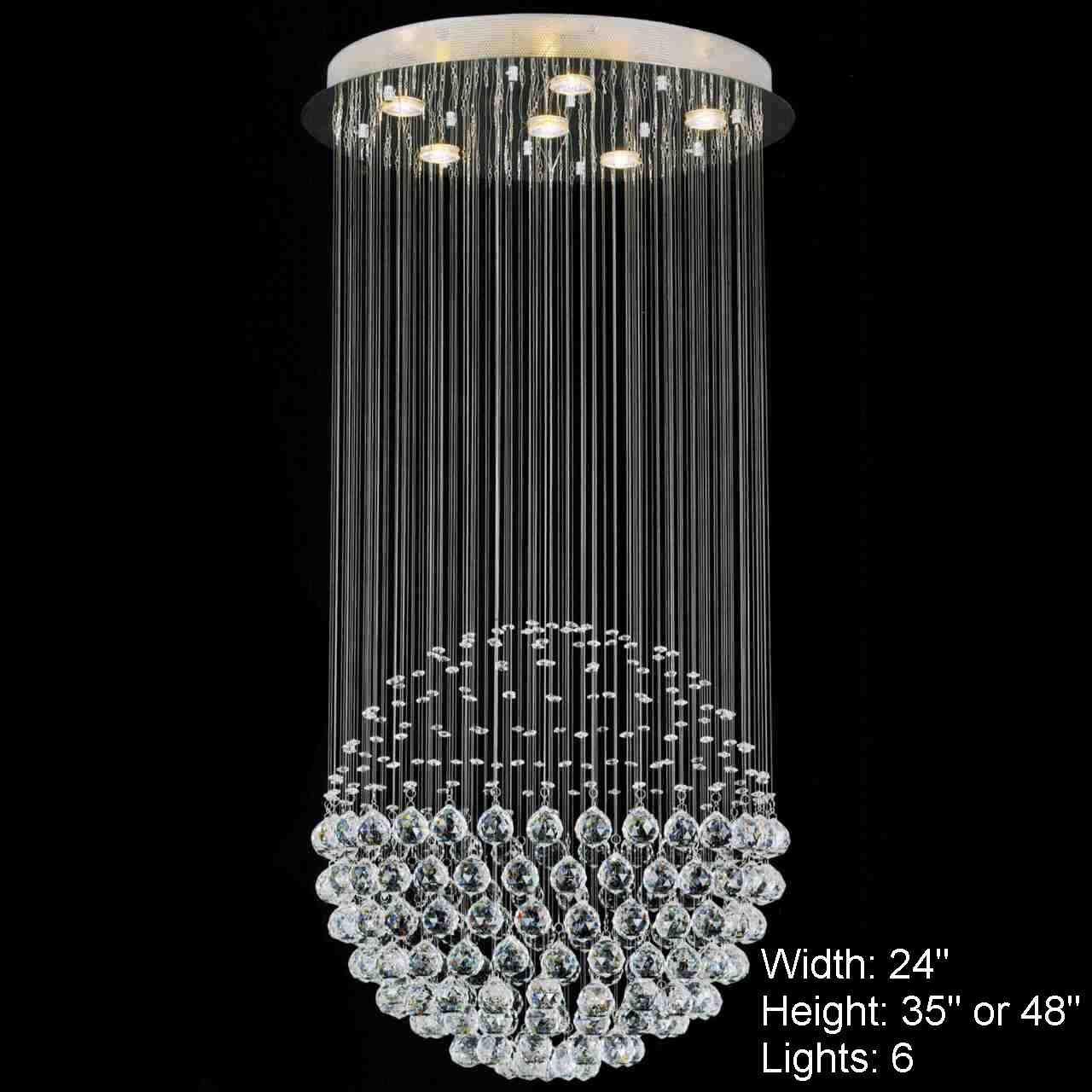 Brizzo lighting stores sphere modern crystal chandelier large picture of sphere modern crystal chandelier large mirror stainless steel base 6 lights aloadofball Image collections