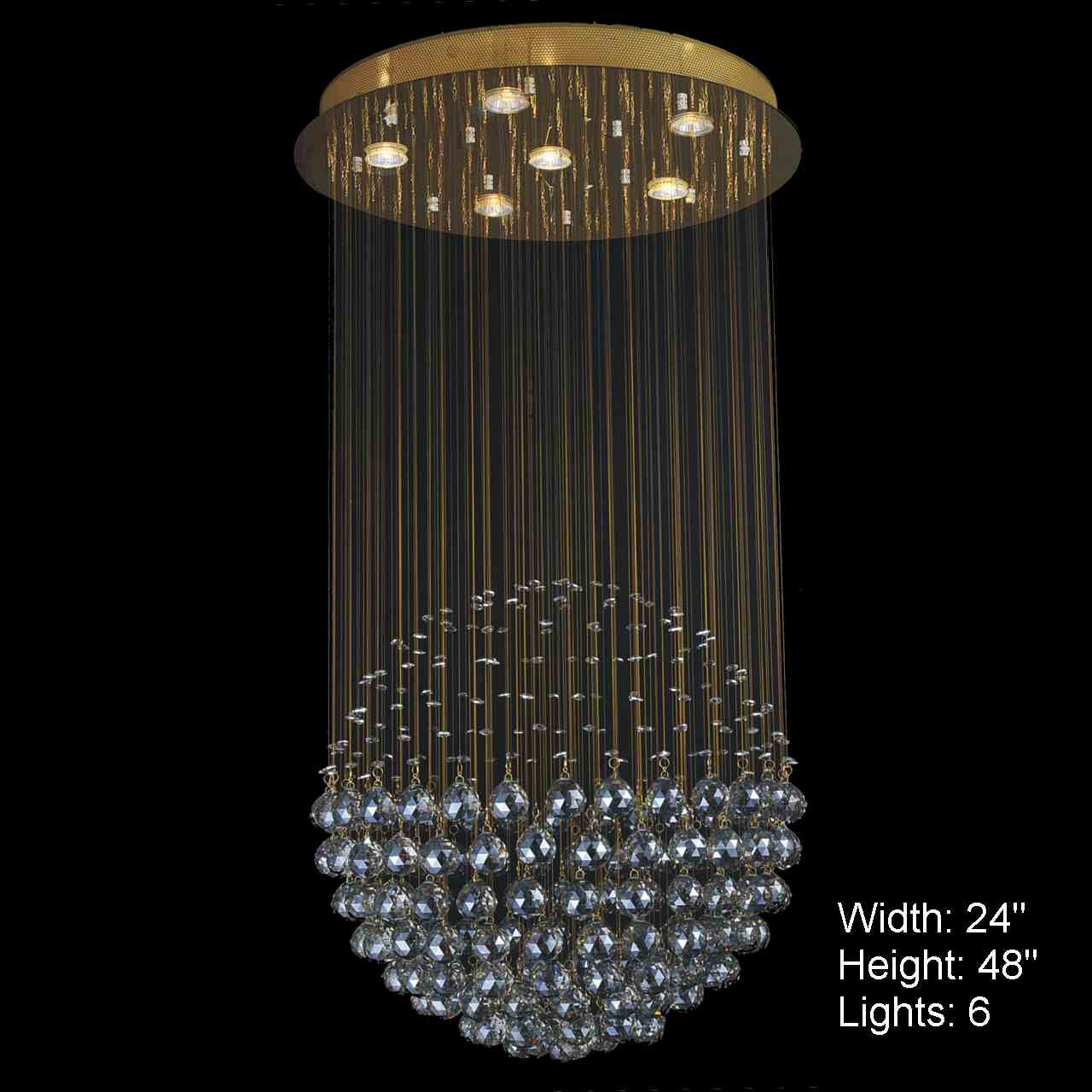 Brizzo lighting stores sphere modern crystal chandelier large picture of sphere modern crystal chandelier large mirror stainless steel base 6 lights aloadofball Choice Image