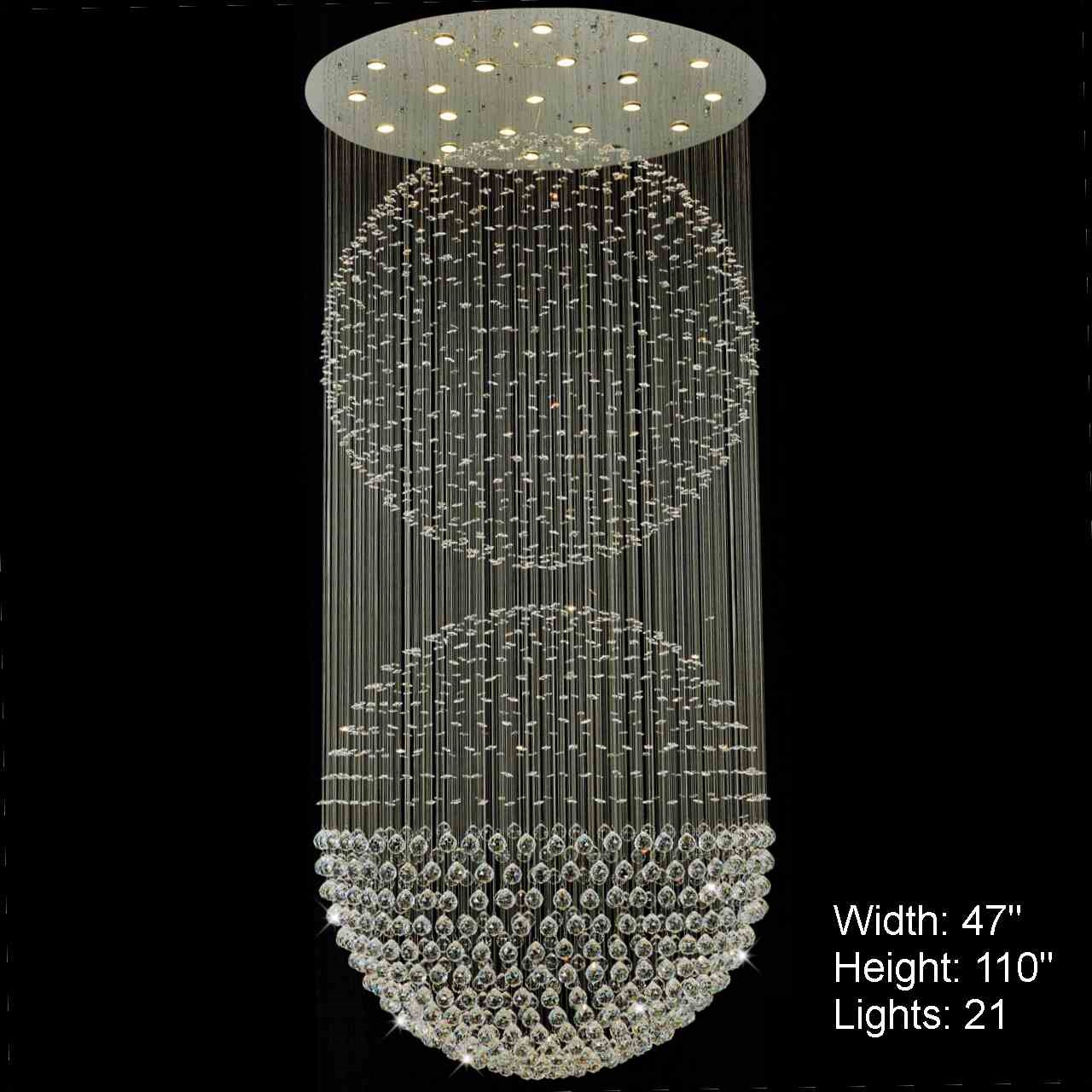 Brizzo lighting stores double sphere modern foyer crystal picture of double sphere modern foyer crystal chandelier mirror stainless steel base 5 lights aloadofball Choice Image