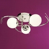 "Picture of 25"" Vibrante Modern Round Kids Semi-Flush Mount Chrome Finish White / Green / Blue / Orange Glass 3 Lights"