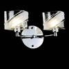 "Picture of 13"" Blocchi Modern Rectangular Wall Sconce Vanity Light Chrome / Gold Finish Clear / White Glass 2 Lights"