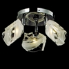 "Picture of 13"" Blocchi Modern Round Flush Mount Chrome / Gold Finish Clear / White / Color Glass 3 Lights"
