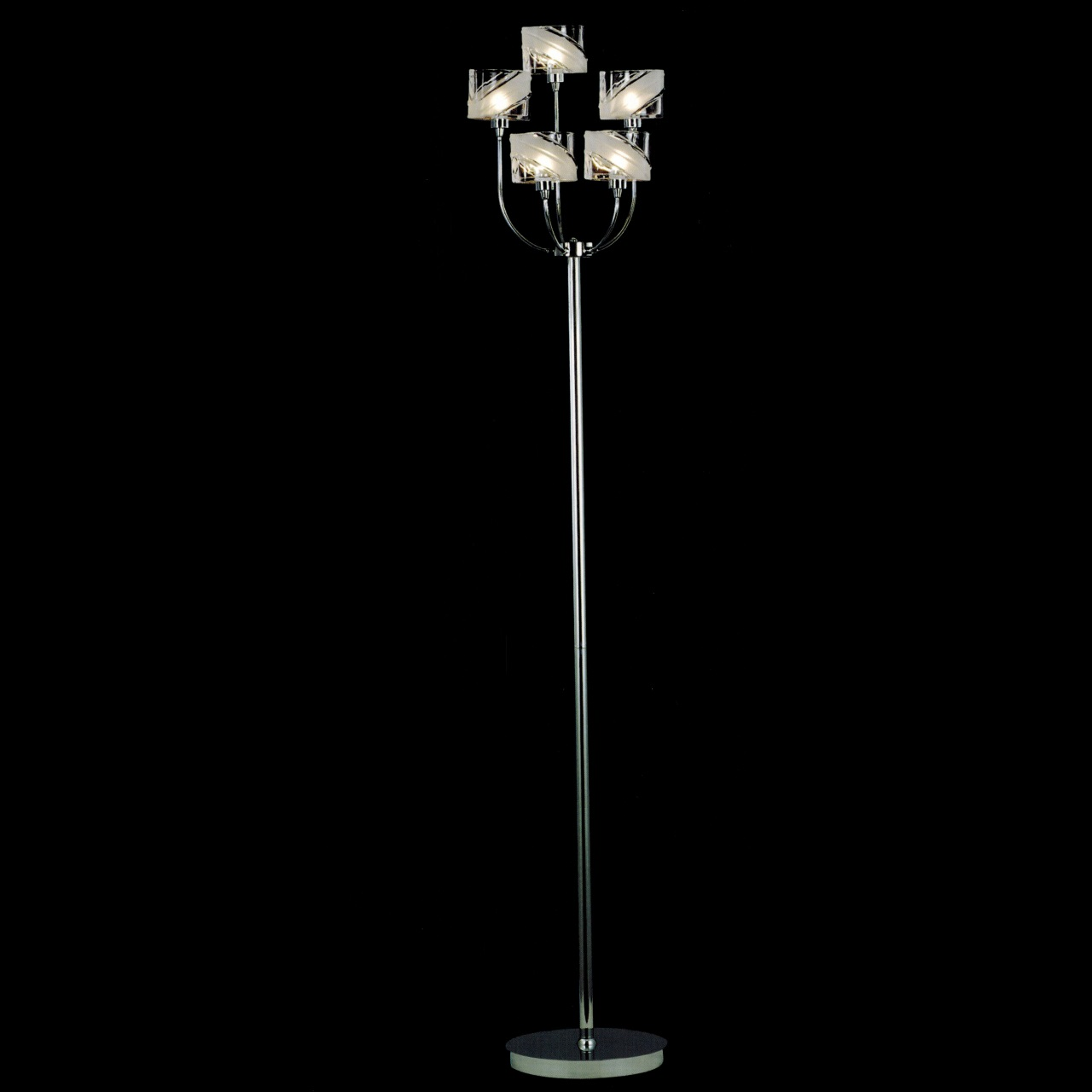 brizzo lighting stores 15 blocchi modern floor lamp chrome gold finish clear white glass 5. Black Bedroom Furniture Sets. Home Design Ideas