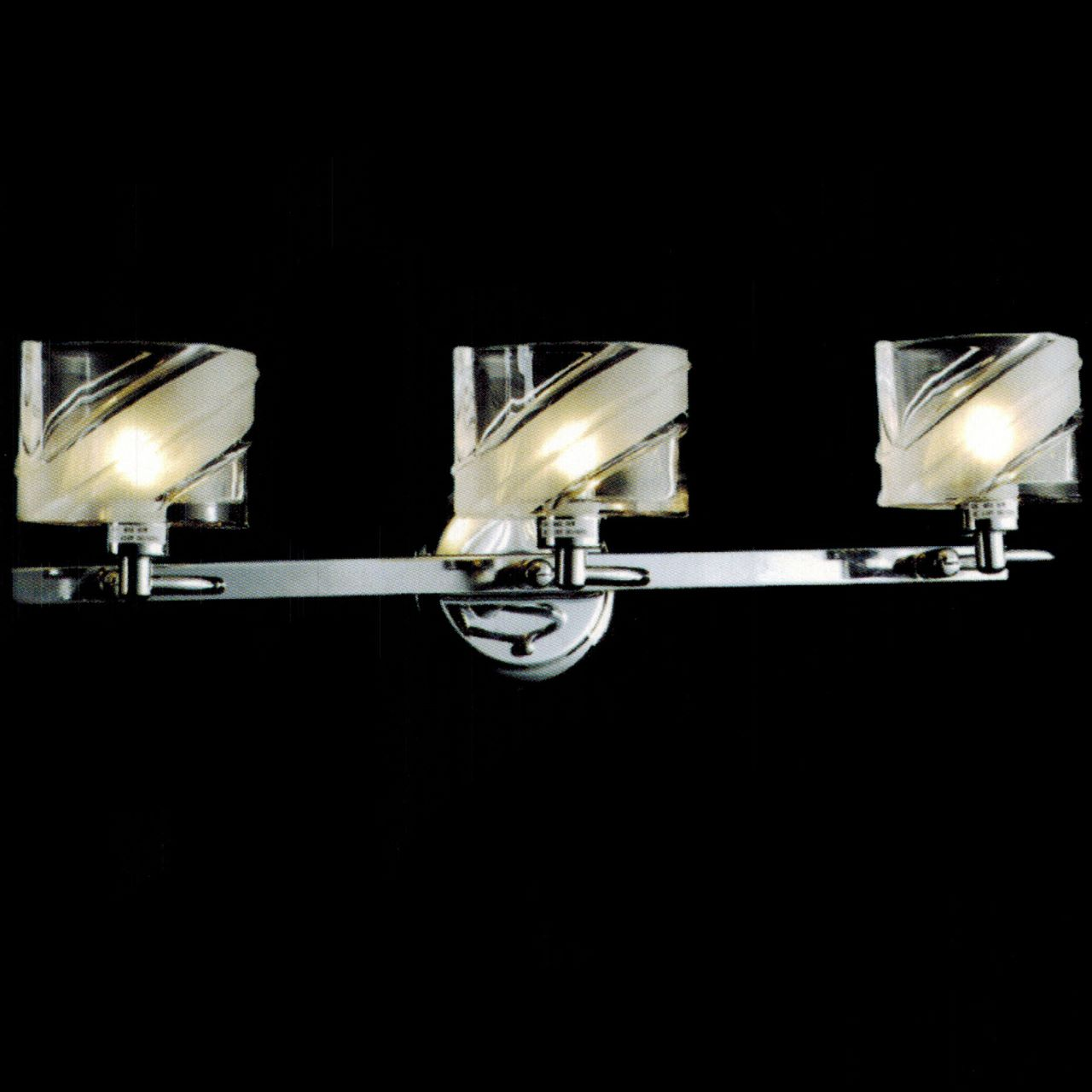 bathroom vanity lights chrome finish. Picture Of 22  Blocchi Modern Rectangular Vanity Light Chrome Gold Finish Clear White Brizzo Lighting Stores