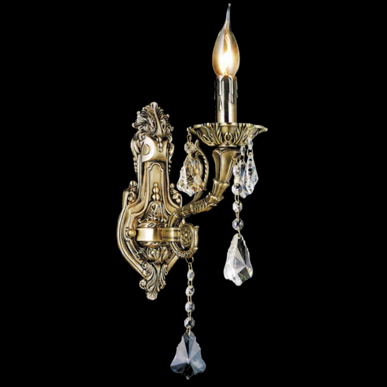 Brizzo lighting stores 13 ottone traditional crystal candle wall picture of 13 ottone traditional crystal candle wall sconce antique brass finish 1 light amipublicfo Gallery