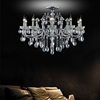 """Picture of 36"""" Vittoria Traditional Crystal Candle Round Flush Mount Polished Chrome 10 Lights"""