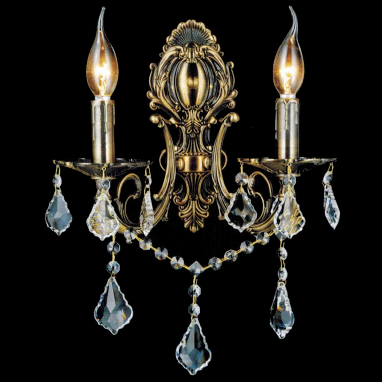 Brizzo lighting stores 16 ottone traditional crystal candle wall picture of 16 ottone traditional crystal candle wall sconce antique brass finish 2 light amipublicfo Gallery