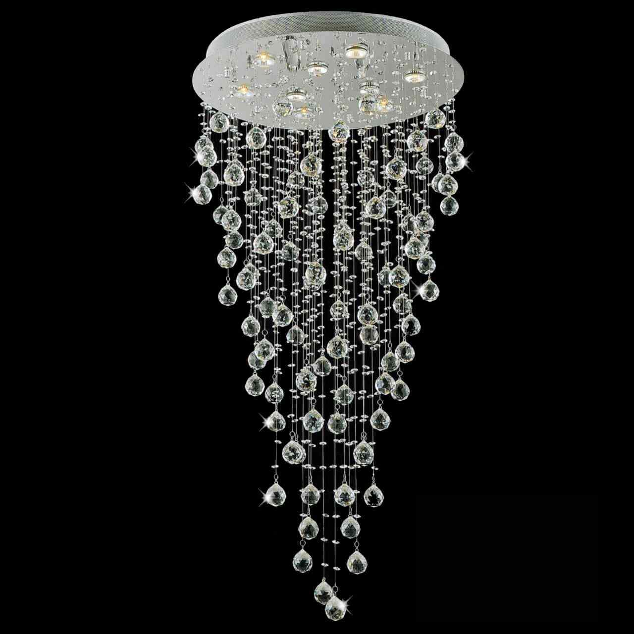 Brizzo lighting stores 47 raindrops modern foyer crystal round picture of 47 raindrops modern foyer crystal round chandelier mirror stainless steel base 9 lights aloadofball Gallery