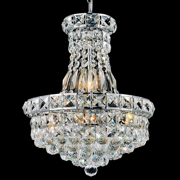 "Picture of 18"" Primo Transitional Crystal Round Chandelier Chrome / Gold 12 Lights"