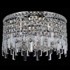 "Picture of 14"" Bossolo Transitional Crystal Round Flush Mount Chandelier Polished Chrome 4-Lights"