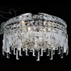"Picture of 16"" Bossolo Transitional Crystal Round Flush Mount Chandelier Polished Chrome 5-Lights"